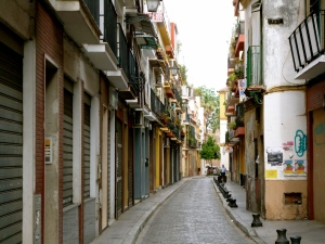 A street in the city center of Seville