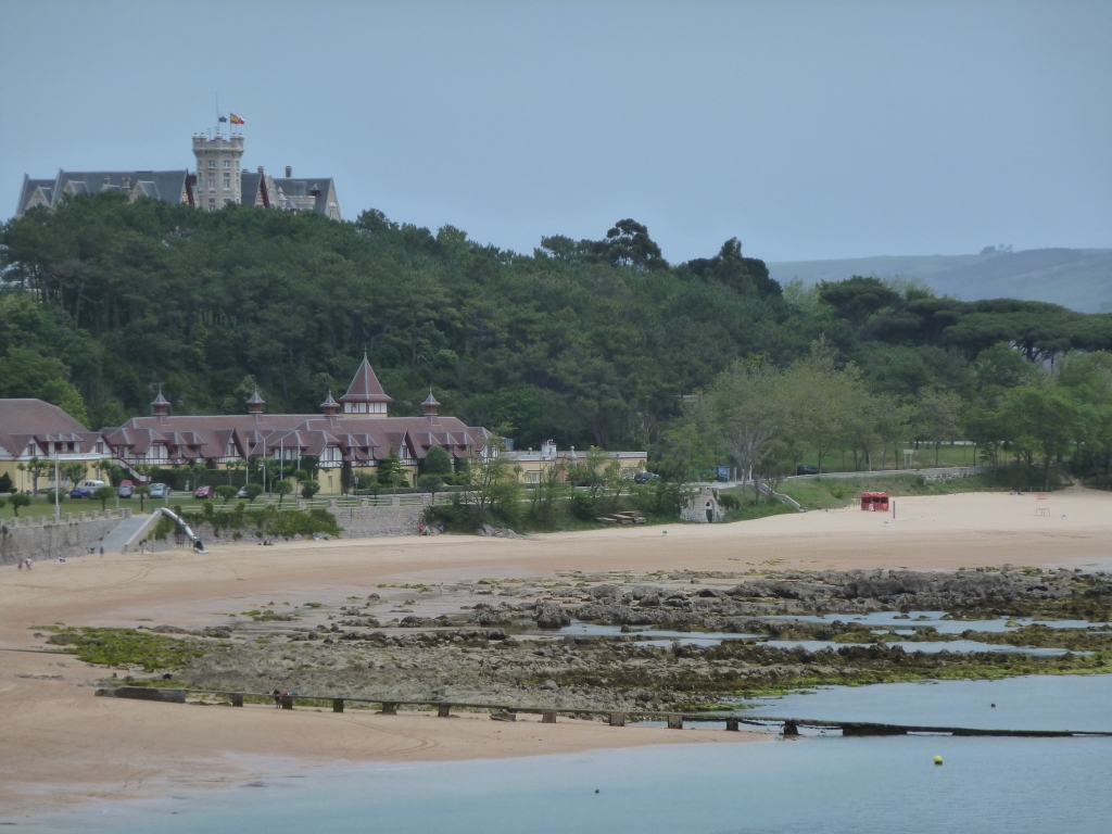 Palacio Magdaleno on a hill over the beach in Santander